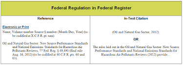 Apa Quote Citation Delectable Q How Do I Cite A Federal Regulation In The APA Style Answers
