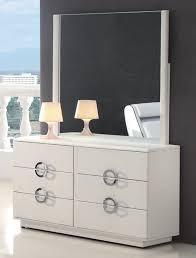 modern white dresser with mirror  casual modern white dresser
