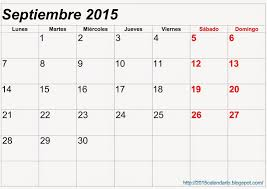 Calendario Septiembre 2015 Blanco L For Calendario Septiembre 2015
