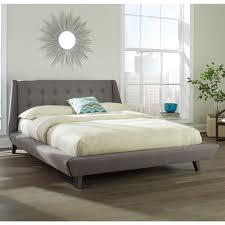 Prelude Upholstered Platform Bed in Ash