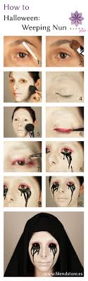 american horror story inspired halloween weeping nun makeup tutorial from blend studio