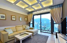 coffered ceiling led lights ideas for warm lighting in luxury living room