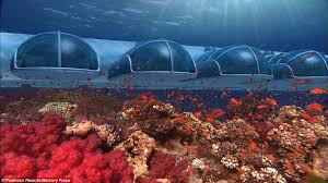 hydropolis underwater resort hotel. The Poseidon Resort Comprises Approximately 225 Acres And Is About A Mile Long. It Hydropolis Underwater Hotel