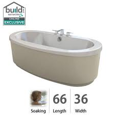 jacuzzi brf6636bc bravo 66 soaking freestanding bathtub with center drain white