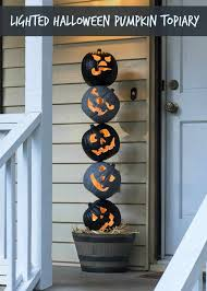 lighted outdoor pumpkin topiary