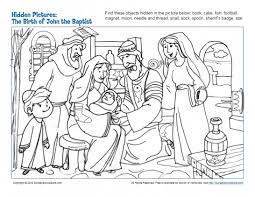These printable worksheets have hidden picture activities on them. Hidden Picture Bible Activities For Children On Sunday School Zone