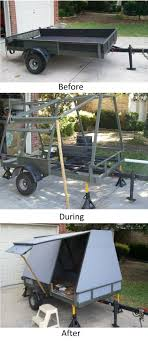 converting a utility trailer into a camper steel frame and plywood skin campers i like utility trailer steel frame and plywood