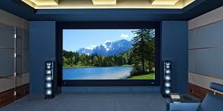 home theater wall speakers. home theater with freestanding speakers wall