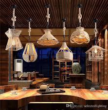 Restaurant bar lighting Backlight Modern Pendant Lighting Retro Industrial Design Rope Pendant Lamps E27 Edison Bulb Chandelier Pendant For Restaurant Bar Lighting White Pendant Light Red Dhgatecom Modern Pendant Lighting Retro Industrial Design Rope Pendant Lamps