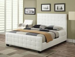 interior white leather beds stylish sunset modern bed pertaining to 4 from white leather beds