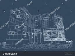 Architectural design blueprint Old Architectural Design Blueprint Public Building Artistic Forging Exhibition Hall With Parking Colourbox Architectural Design Blueprint Public Building Artistic Stock