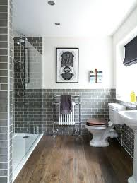 gray bathroom tile ideas alcove shower traditional gray tile and subway tile dark wood floor and