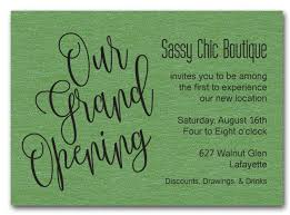 Grand Opening Invitations Green Sparkle Grand Opening