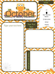 october newsletter ideas october newsletter teaching resources teachers pay teachers