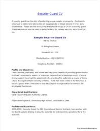 Security Job Resume Samples Best Professional Security Officer