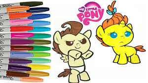 My Little Pony Twins Pumpkin Cake Pound Cake Coloring Book Page