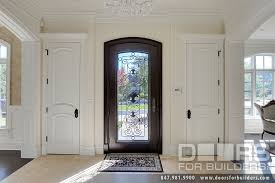 wrought iron front doorsCustom Solid Mahogany Wood Door with Wrought Iron Heritage