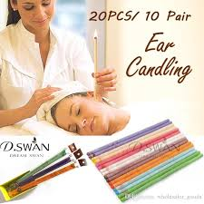 ear candle healthy care wax removal cleaner frangrance aromatic braising ear herbal treament coning ear wax remover ear candling ear wax cleaner beeswax