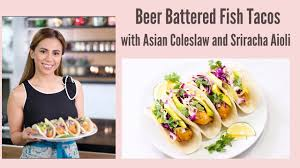 Beer Battered Fish Tacos with Asian ...