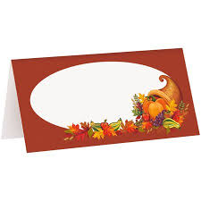 Fall Place Cards Harvest Fall Place Cards 16ct