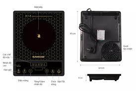 BẾP HỒNG NGOẠI CƠ SUNHOUSE SHD6009 - Công suất 2000W, Chế độ cảm ứng nhiệt  an toàn - Bảo hành 12 tháng - Hàng chính hãng