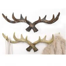 Retro Coat Rack Retro coat rack antlers decoration Deer Head Animal Hanging hook 100