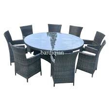 round outdoor dining table for 6 person patio set seater