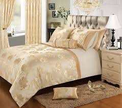 blue and gold bedding white bed