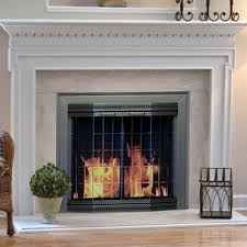 outstanding pleasant hearth arrington fireplace screen and bi fold track free throughout glass fireplace screens with doors popular