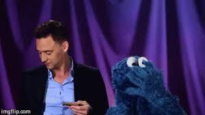 cookie monster tom hiddleston gif. Unique Cookie Cookie Monster GIF Intended Tom Hiddleston Gif Giphy