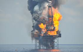 A blaze on the surface of the gulf of mexico resembling a large eye of fire has been brought under control, according to mexico's state oil. Offshore Oil Platform Caught Fire In Gulf Of Mexico Maritime Herald