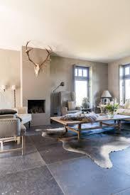 Woonkamer Met Natuursteen En Gewei Huis Idees Home Living Room