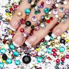 <b>120pcs</b> 3D Nail Art Tips Pearls Studs Glitter Rhinestone DIY ...