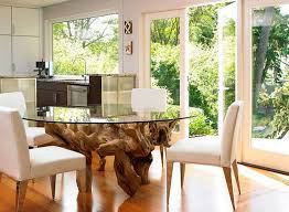 innovative round glass tables with glass kitchen table modern reclaimed wood dining table reclaimed