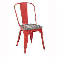 office star dining chairs. office star brw299a2-c306 bristow metal chair with vintage wood seat and red frame - dining chairs a