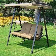 luxury swing chair 2 seater metal outdoor garden hanging with