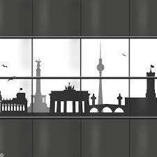 Dekorative Sichtschutzstreifen Mit Der Skyline Von Berlin