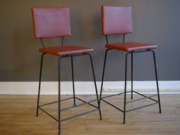 Mid Century Modern Iron Bar Stools Without Arms