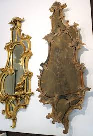 chinese chippendale style mirrors with ornately carved wooden gold tone frames