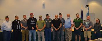 Rockland Community College - Photo (l-r): Dominick Filippone, USA, outgoing  Commander of American Legion Post #794, Eric Masbad, USAF, (former RCC  student and current RCC Administrator), David Howe, USMC, (RCC student),  Jason