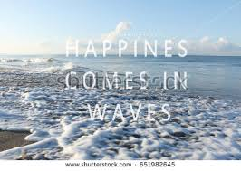 Waves Quotes Simple Blurry Waves On Beach Inspirational Quotes Stock Photo Edit Now