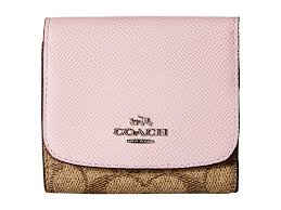 Lyst - Coach Small Wallet in Pink