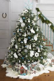 Christmas Tree With White And Multicolor Lights 50 Decorated Christmas Tree Ideas Pictures Of Christmas