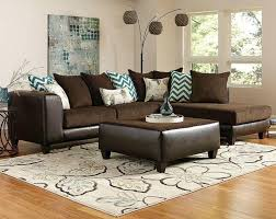 image of dark brown couch living room ideas