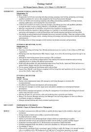 Internal Recruiter Resume Samples Velvet Jobs