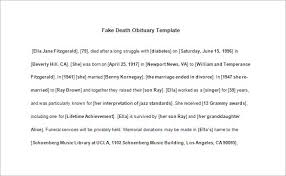 Free Obituary Template Free Obituary Templates 100 Free Word Excel PDF Format Download 2