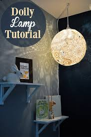 diy lighting design. 4. Lacey Victorian Doily Lampshade Diy Lighting Design