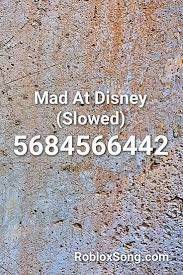 The latest & active mad city codes for roblox (march 2021). Mad At Disney Slowed Roblox Id Roblox Music Codes Roblox Coding Roblox Roblox