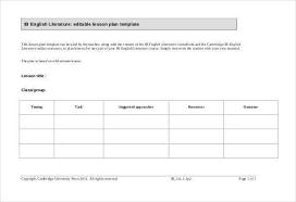 Lesson Plans Blank Template Blank Lesson Plan Template Urldata Info