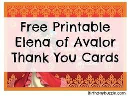 Free Printable Elena Of Avalor Thank You Cards Birthday Buzzin